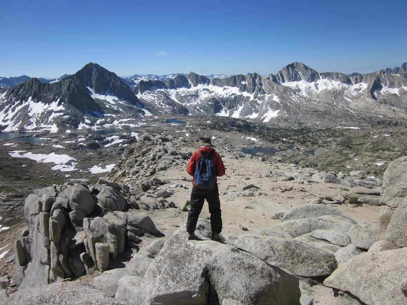 Dusy Basin from Peak 12286