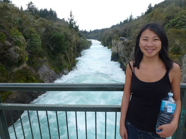 Me at the Huka Falls with a trusty bottle of water, had that bottle for a couple of weeks!