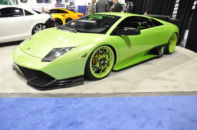 2010 Lime Green Lamborghini Murcielago on matching wheels ...