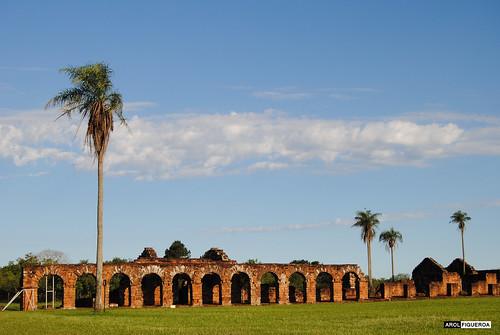 Ruinas de casas de las misiones jesuitas
