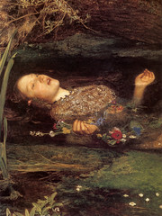 Detail of Millais's Ophelia
