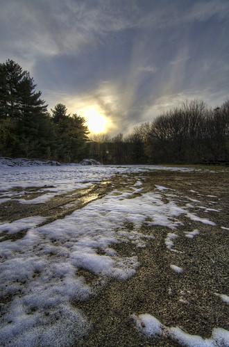sunset firstsnow blackstoneriver meltingsnow tokina1116f28 tokinawideangle snowatsunset