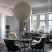 Magnus Marding / New York Times {gray and white vintage classic mid-century eclectic modern living room}