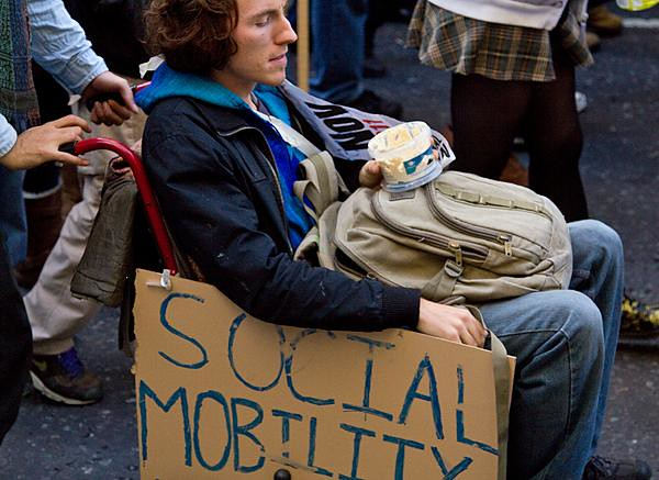 Social Mobility - Student protest, London, 9 November 2011
