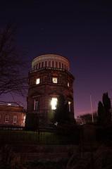 Edinburgh Observatory at night
