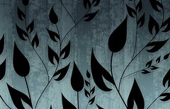Climbing Vines Wallpapers in Pale Blue Pine by BackgroundsEtc