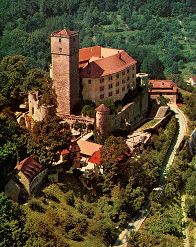 Burg Guttenberg from Air (Postcard)