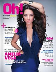 Amelia fue la portada de Aniversario de Oh! Magazine