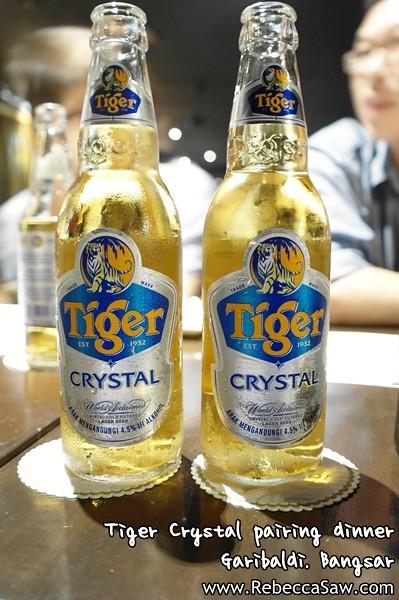 Tiger Crystal pairing dinner - Garibaldi Bangsar