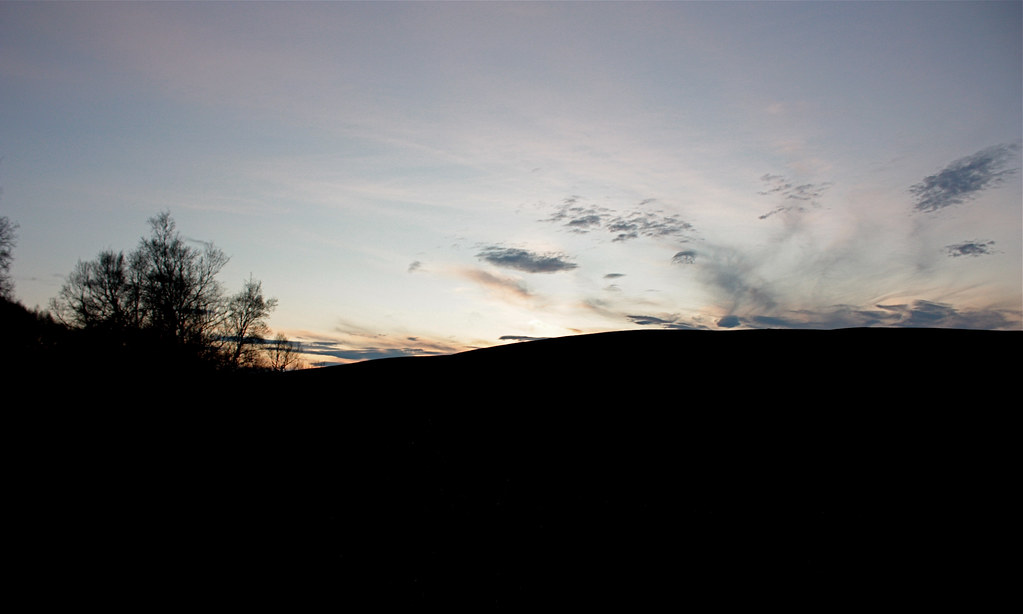 Sunset over Gael Charn