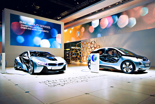 Los Angeles Auto Show - BMW i8 and i3 Concepts