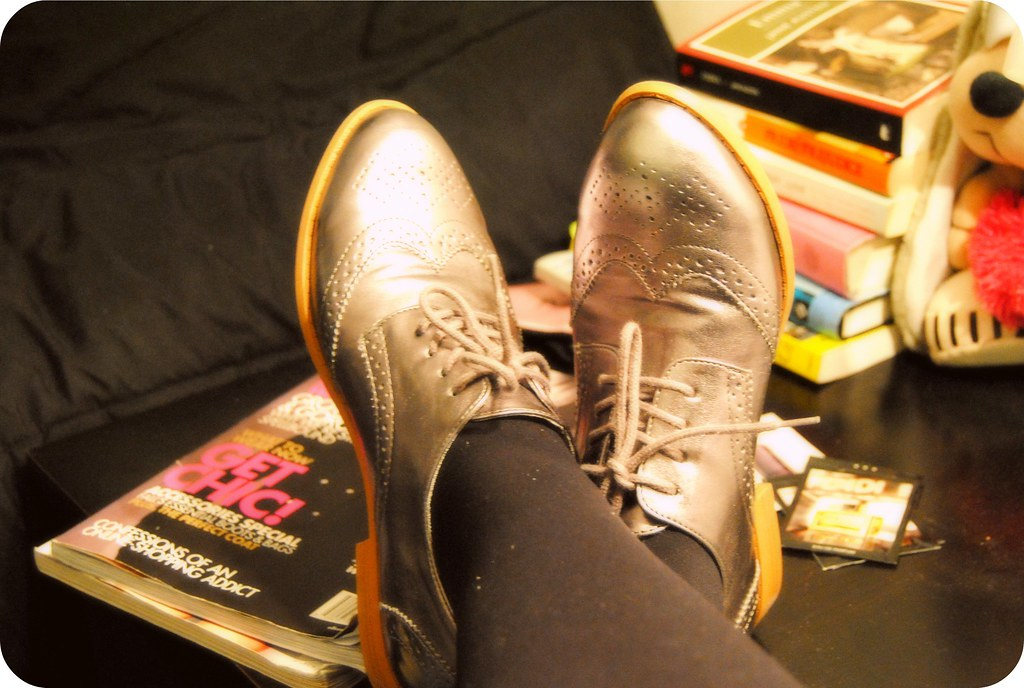 H&M Silver Oxfords 2