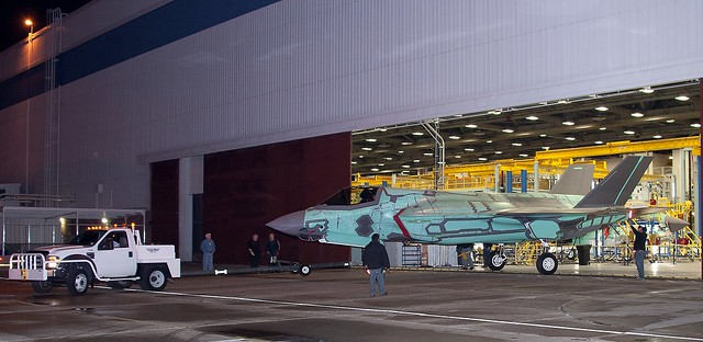 First International Lockheed Martin F-35 Lightning II joint Strike Fighter Rolls Out of the Factory