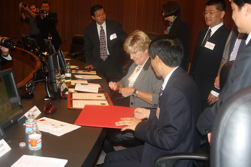 signing our 8th Sister City, Guiyang, China