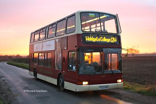 bus college sunrise volvo coach eyes yorkshire president east depot motor hull services driffield plaxton transbus woldgate b7tl kirkburn tibthorpe yx53aon eybusman