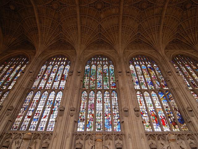 La capilla del King's College de Cambridge. Inglaterra