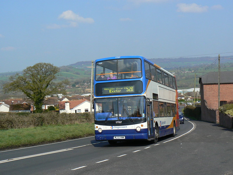 Stagecoach Devon 17707 in Honiton