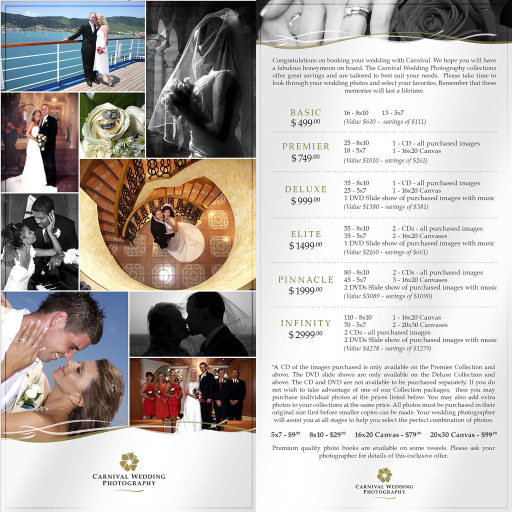 Carnival Photography Package Pricing Photos Cruise Critic - Wedding on a cruise ship costs