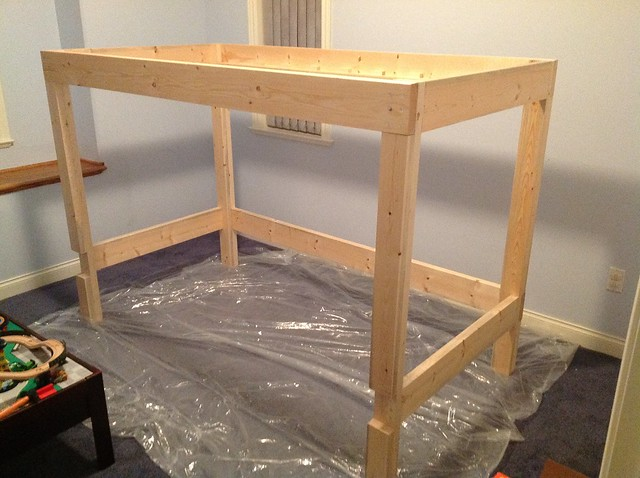 Castle loft bed frame flickr photo sharing for How to build a castle bed