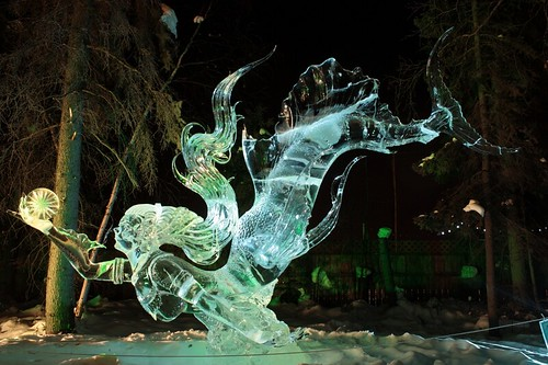 Mermaid Ice Art