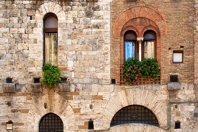 San Gimignano. La Toscana. Italia
