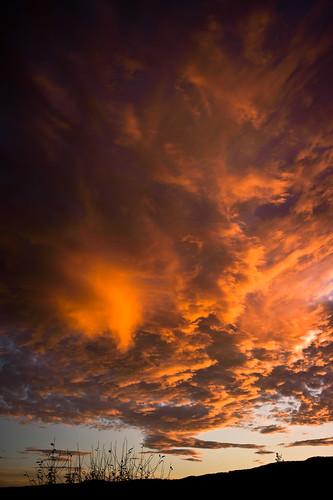 fall clouds dawn sonnenuntergang herbst