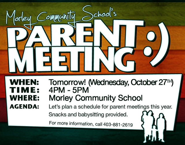 parent flyer templates parent meeting flyer