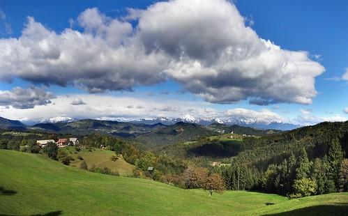 cloud mountains church clouds landscape hill hills slovenia slovenija hdr tomaz storzic storžič grintovec tomaž rantovše rantovse