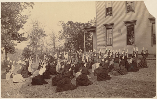 Untitled - exterior view (girls' physical education class)