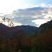 Couchée de soleil dans les montagnes