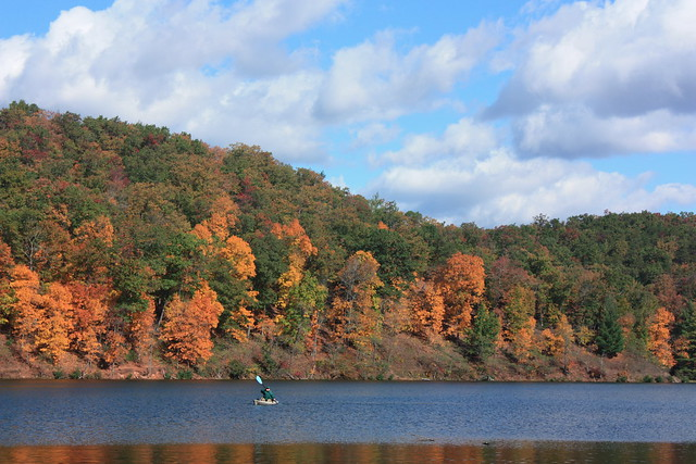 You can't paddle inside, so go outside at Douthat State Park