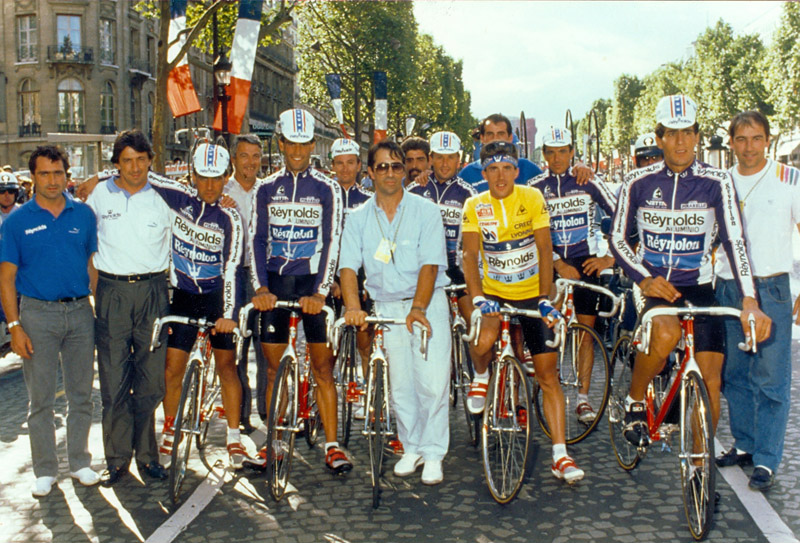 Reynolds team during the 1988 edition of the Tour de France