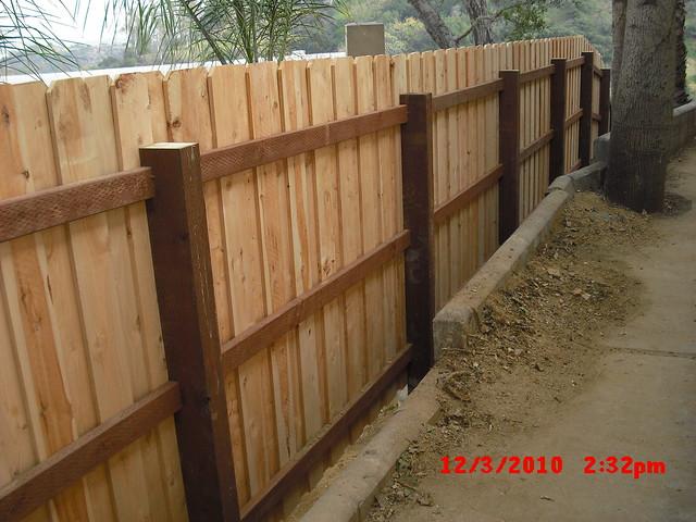 Custom Board On Board Overlap Cedar Dog Ear Fence With 4x6