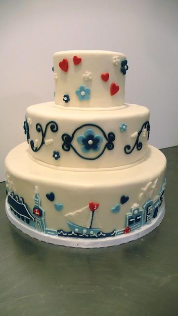 Delfts Blauw wedding cake