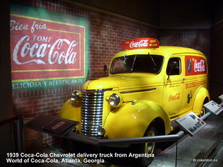 1939 Coca-Cola Chevrolet truck from Argentina at the World of Coca-Cola