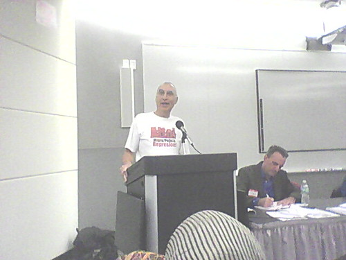 Carlos Montes addressing the National Conference of the Committee to Stop FBI Repression held in Chicago on November 5, 2011 at the Kent School of Law. Montes is facing trial on trumped-up politically-motivated charges. (Photo: Abayomi Azikiwe) by Pan-African News Wire File Photos