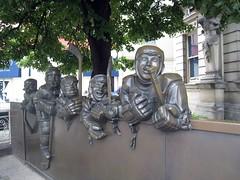 Hockey Players Sculpture