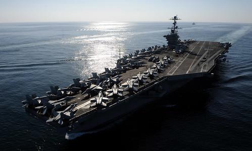 無料写真素材, 戦争, 軍用船, 航空母艦, ジョン・C・ステニス CVN, アメリカ軍