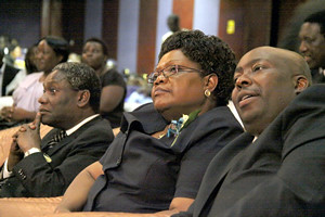 Republic of Zimbabwe Vice-President Joice Mujuru along with Minister of Youth Development Savior Kasukuwere. Zimbabwe won its independence in 1980 and has been a stalwart of the anti-imperialist struggle in Africa for over three decades. by Pan-African News Wire File Photos