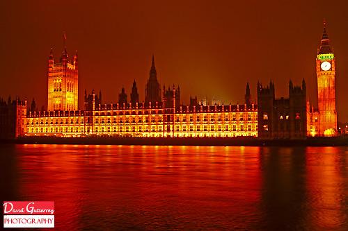 London Fiery Night