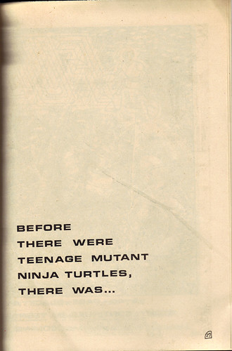 "RAPHAEL, TEENAGE MUTANT NINJA TURTLE #1 { ORIGINAL MICRO SERIES } ii // ""FUGITOID #1"" ad-spread A (( 1985 ))"