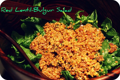 Red Lentil-Bulgur Salad
