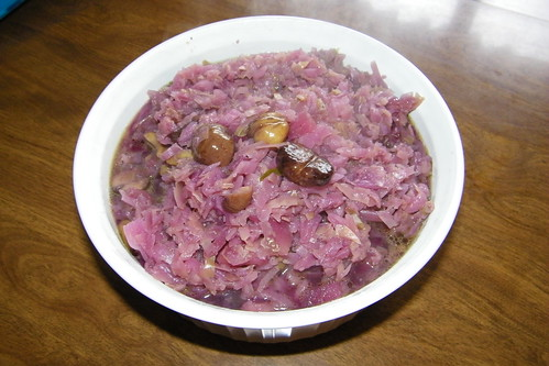 Holiday Red Cabbage and Chestnuts