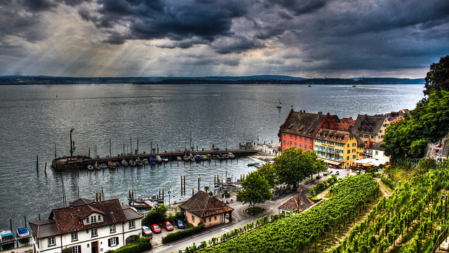 0254 - Germany, Meersburg, Harbour HDR