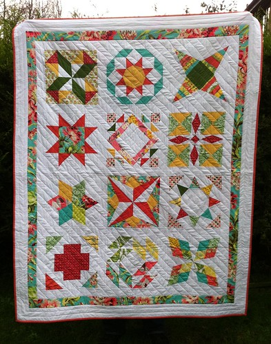 Summer Sampler Quilt Finished!