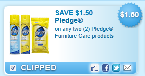 Pledge Furniture Care Products Coupon