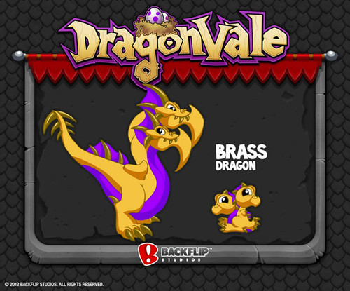 DragonVale Brass Dragon