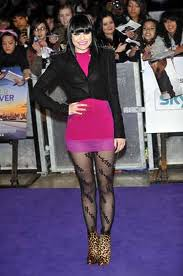 Jessie J Patterned Tights Celebrity Style Woman's Fashion