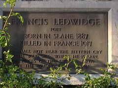 Photo of Francis Ledwidge bronze plaque