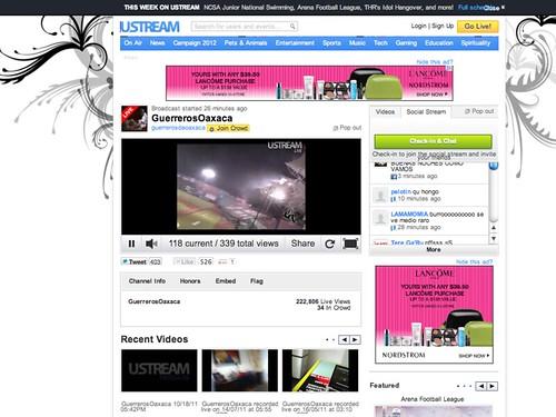 Guerreros on Ustream 03.2012
